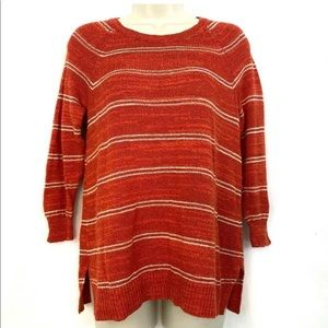 Madewell Linen Blend Sweater S Red Stripe